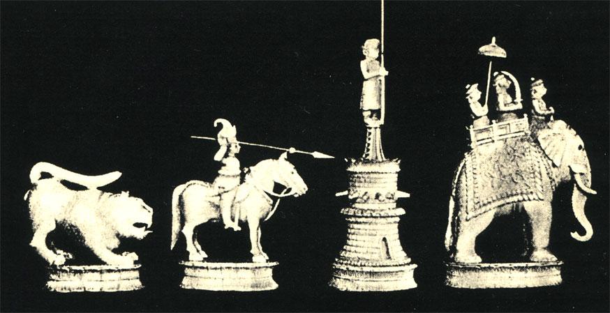 Шахматные фигуры из слоновой <a class=