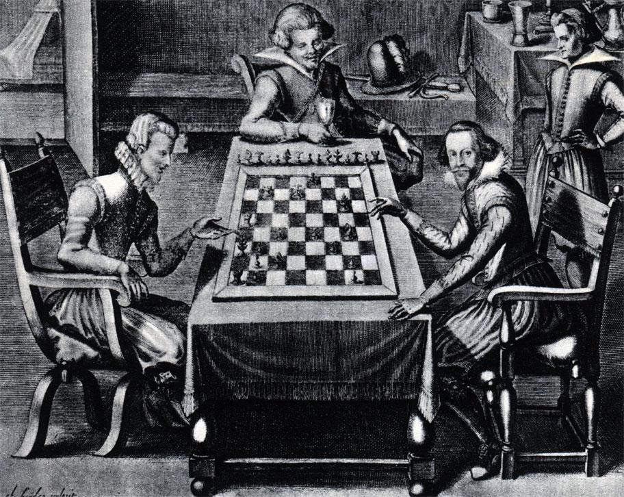 Офорт Якуба ван дер Хейдена из книги Селенуса (1616 г.)