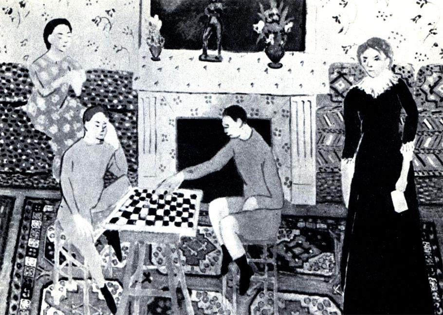 Анри Матисс: 'Семейный вечер'. Картина находится в Ленинградском Эрмитаже