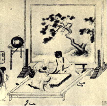 'Игроки в вей-хи'. Китайский рисунок времен царствования династии Сунг (960-1279 г.)