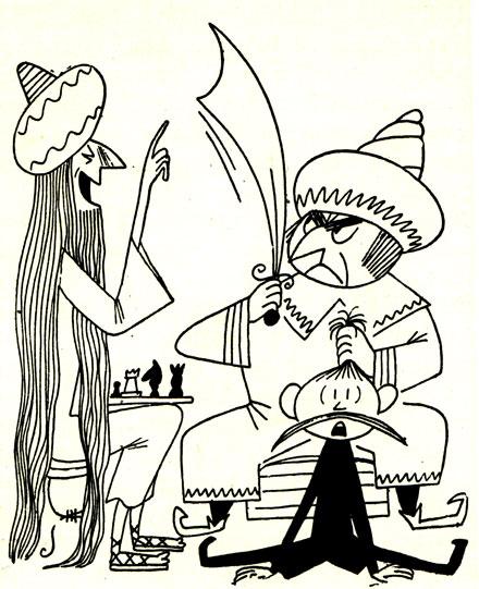 Брамин, султан и шахматы - в интерпретации художника Г. Миклашевского...