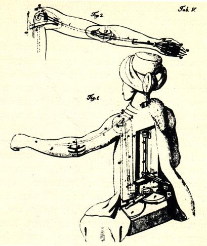 Хотя автомат и был чистой мистификацией, конструкция его, однако, является примером необычайной изобретательности и точности в построении механизма. Рисунок середины XIX века