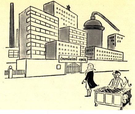 Кемпелен, глядя на современный полностью автоматизированный завод: 'Неужели его обслуживает всего лишь один спрятанный человек?!' ('Людаш Матьи')