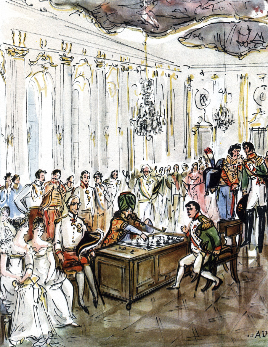 Наполеон играет в шахматы с... автоматом