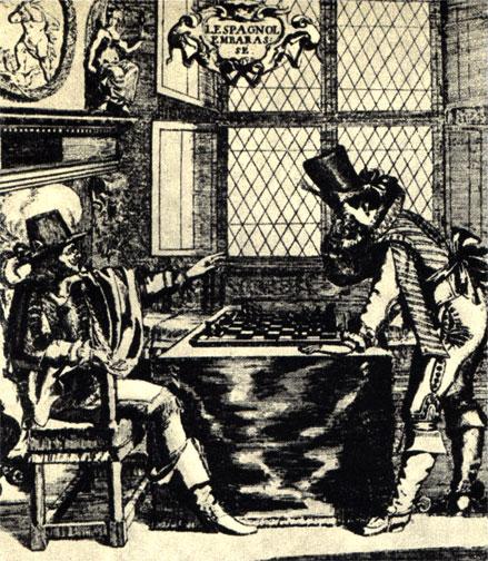 'Озабоченный испанец'. Франция и Испания борются за влияние в Европе. Французская политическая карикатура XVII века