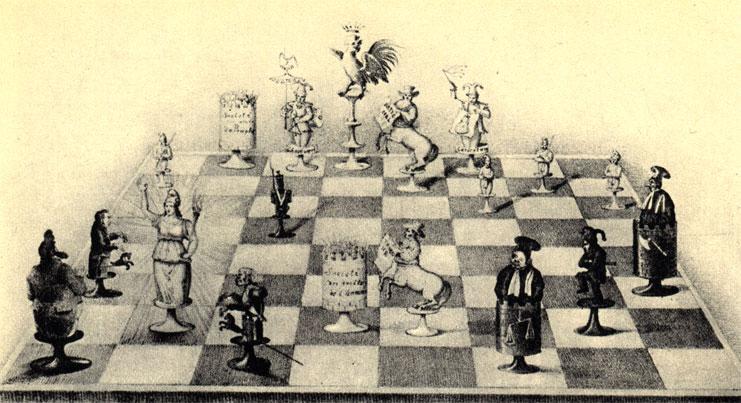 'Шах и мат!' Республика дает мат королю Луи Филиппу. Французская политическая карикатура периода февральской революции. ('Ля Карикатюр')