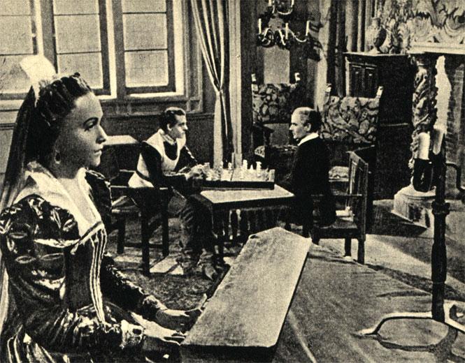Соперники. Кадр из французского фильма 'Родина' (1945 год)