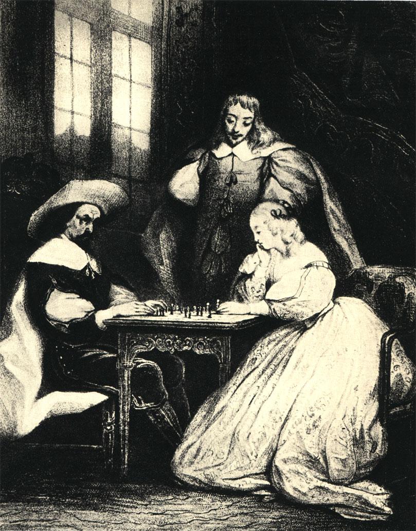 А. Иоаннет: 'Партия в шахматы'. Французская литография начала XIX в.
