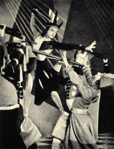 Балет 'Шах и мат' в исполнении английского ансамбля Садлерс Уэльс (1947 г.). Черная королева соблазняет красного короля. ><br>Балет 'Шах и мат' в исполнении английского ансамбля Садлерс Уэльс (1947 г.). Черная королева соблазняет красного короля. <br><br></div>   <div class=