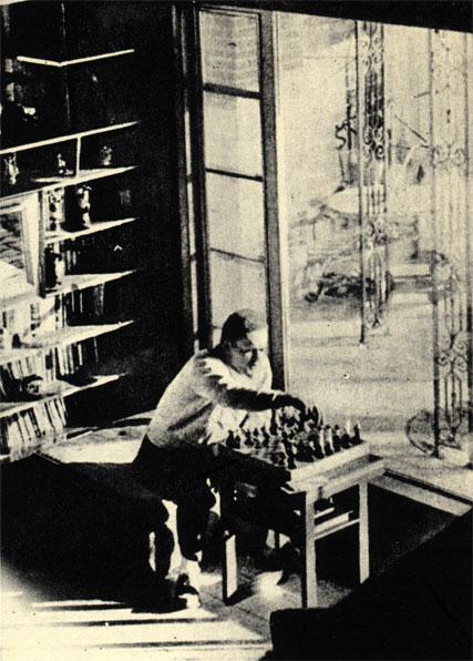 Современный американский писатель младшего поколения Джеймс Джойнc изучает в свободное время шахматную теорию