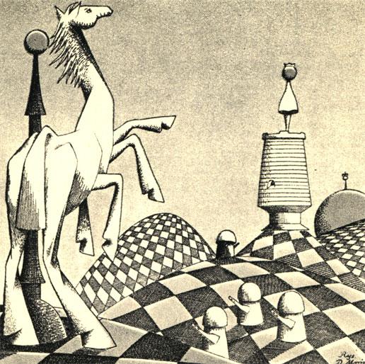 Иллюстрация к 'Шахматной новелле' С. Цвейга (Худ. Д. Мруз - 'Пшекруйи)