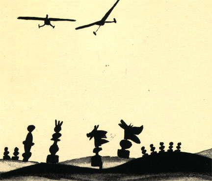 Иллюстрация польского художника Г. Реховича к рассказу Владислава Касинского 'Конь'