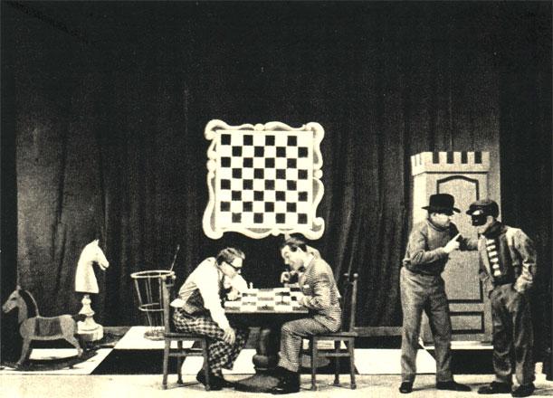 Скетч 'Шах и мат' из ревю краковского театра сатириков - 'Едем на Олимпийские игры' (1956 г.)