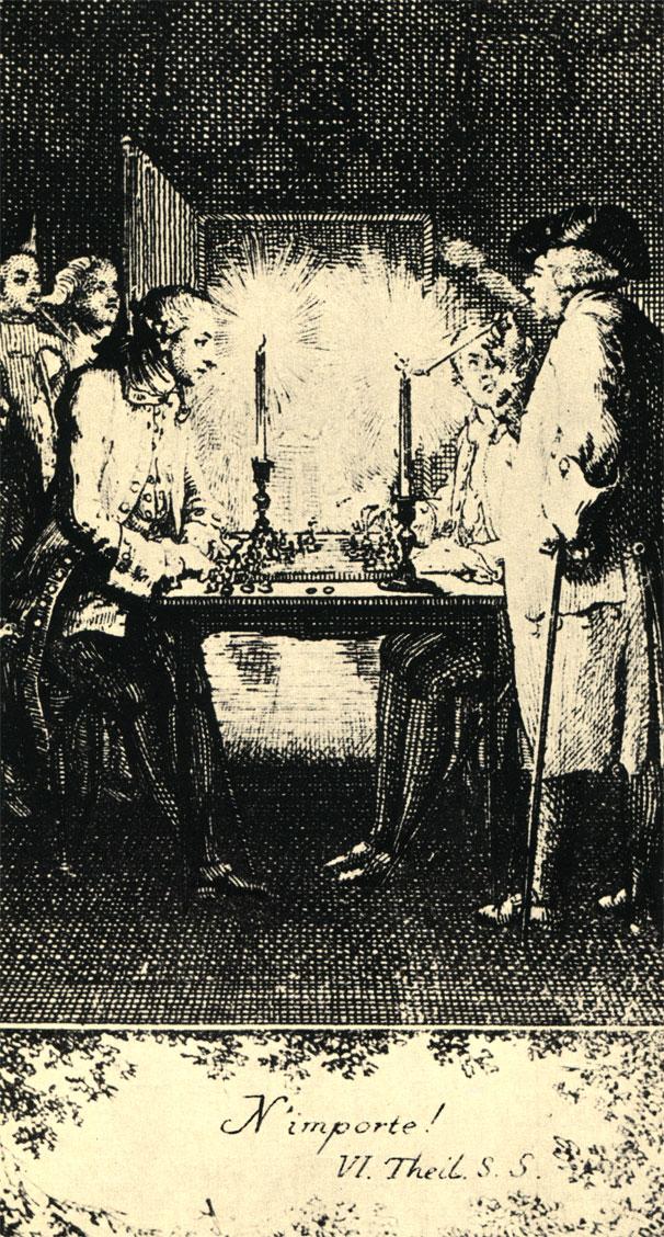 Даниель Ходовецки: 'Это не важно!' Офорт 1778 г.