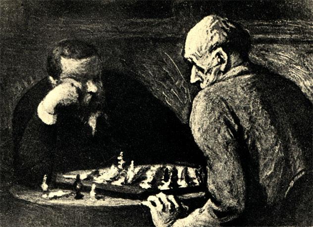 Опоре Домье: 'Игроки в шахматы' (XIX в.)