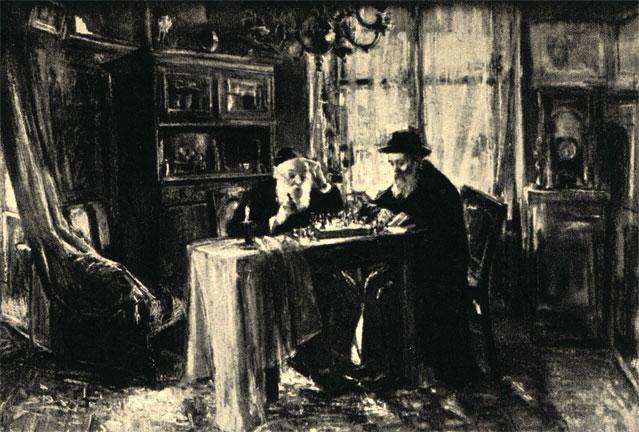Артур Маркович: 'Игра в шахматы' (XIX в.). Национальный музей в Кракове