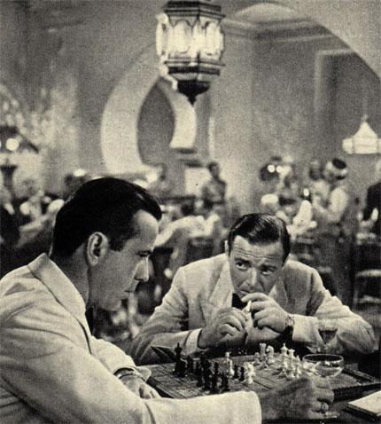 Кадр из американского фильма 'Касабланка' (1943 г.)